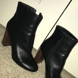 Black Boots with Brown Heel